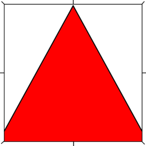 Per chevron throughout argent and gules
