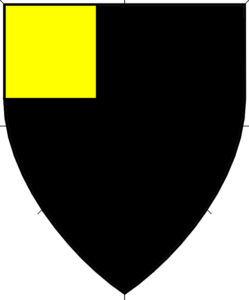 Sable, a canton Or