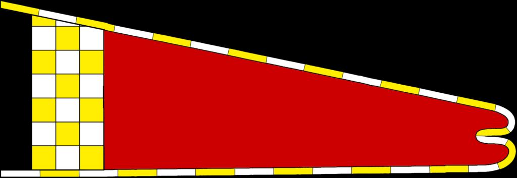 Hoist of An Tir with a red field