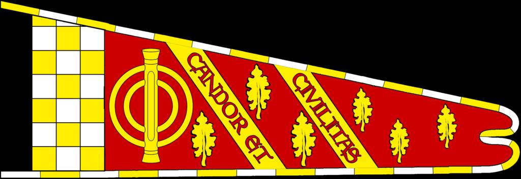 Hoist of An Tir as before, with motto