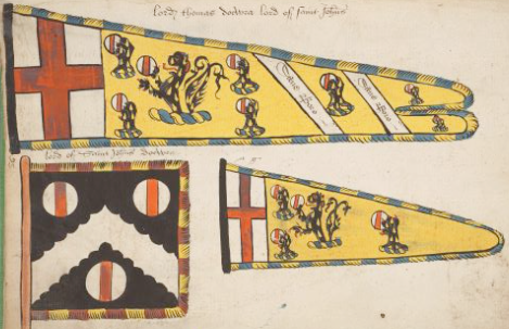 An example of a standard, banner, and guidon